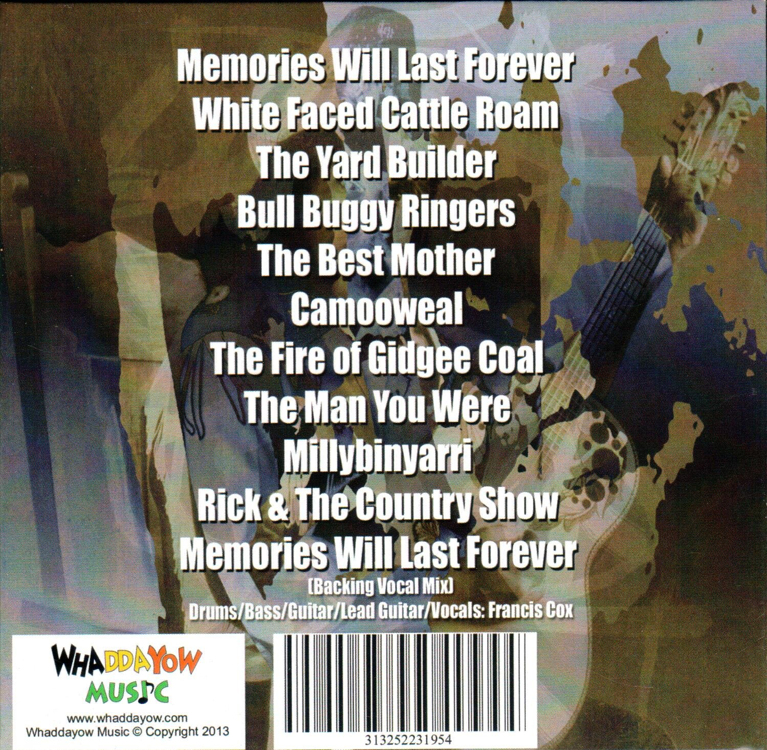 Memories Will Last Forever Rear Cover